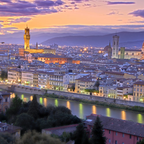 Sunset in Florence roberta campani